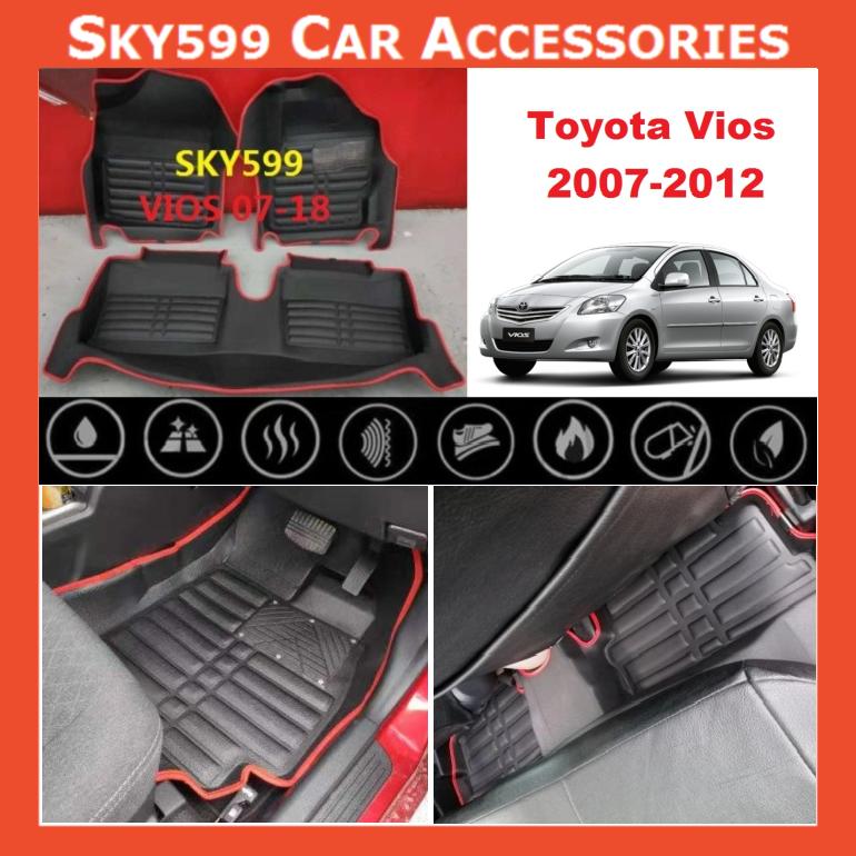 Toyota Vios 2007-2018 5D Car Floor Mat/Carpet