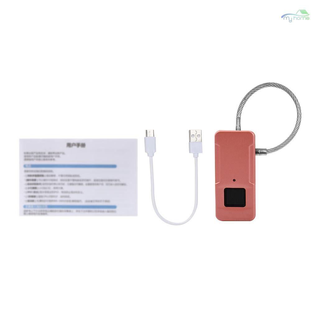 Chains & Locks - Bag Lock MINI PORTABLE Fingerprint Lock Smart Intelligent Outdoor Bag Handbag Anti Theft Lock - SILVER / BLACK / PINK / GREY