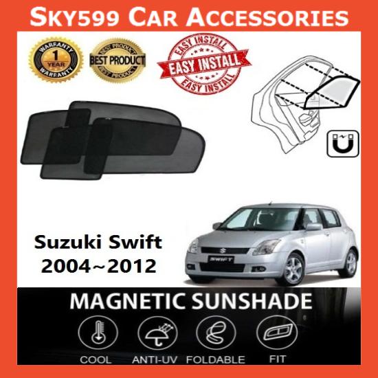 Suzuki Swift 2006-2012 Magnetic Sunshade 【4pcs】