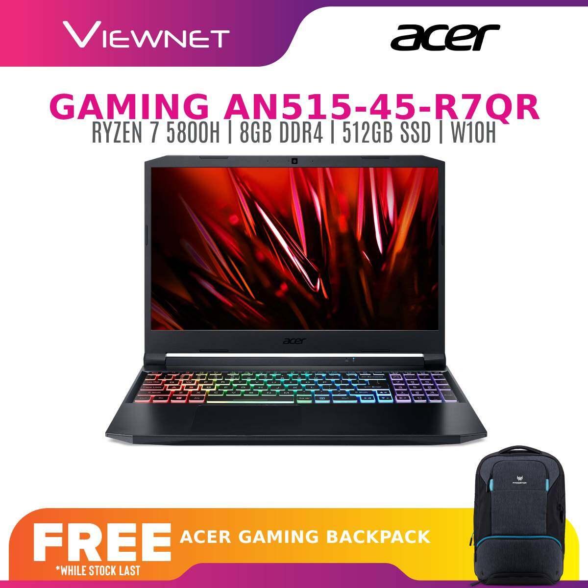 ACER NITRO 5 GAMING LAPTOP AN515-45-R7QR (RYZEN 7) AN515-45-R9RJ (RYZEN 5) [NVIDIA GTX1650, 8GB DDR4, 512GB SSD, 15.6