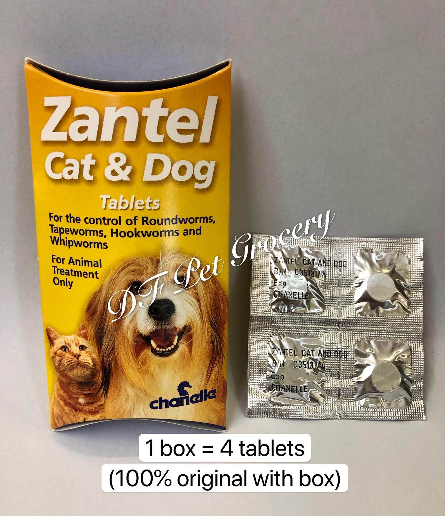 Zantel Deworm Tablets For Cat & Dog ( 4 Tablets ) in Box