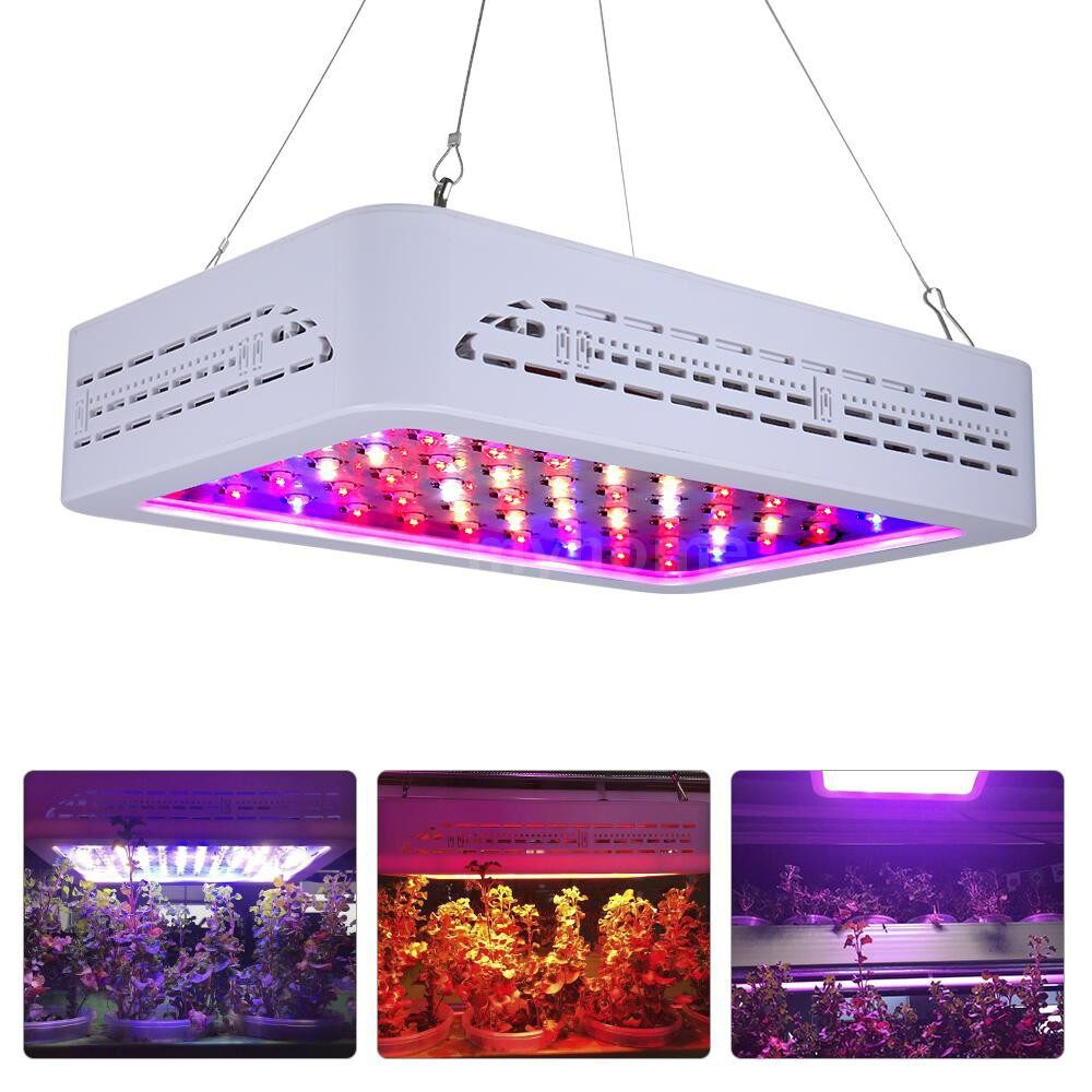 Lighting - AC85-265V 600W 60 LED 3078LM Plant Growth Lamp Flora Growing Light Slim Design with Hanging Kit - Home & Living