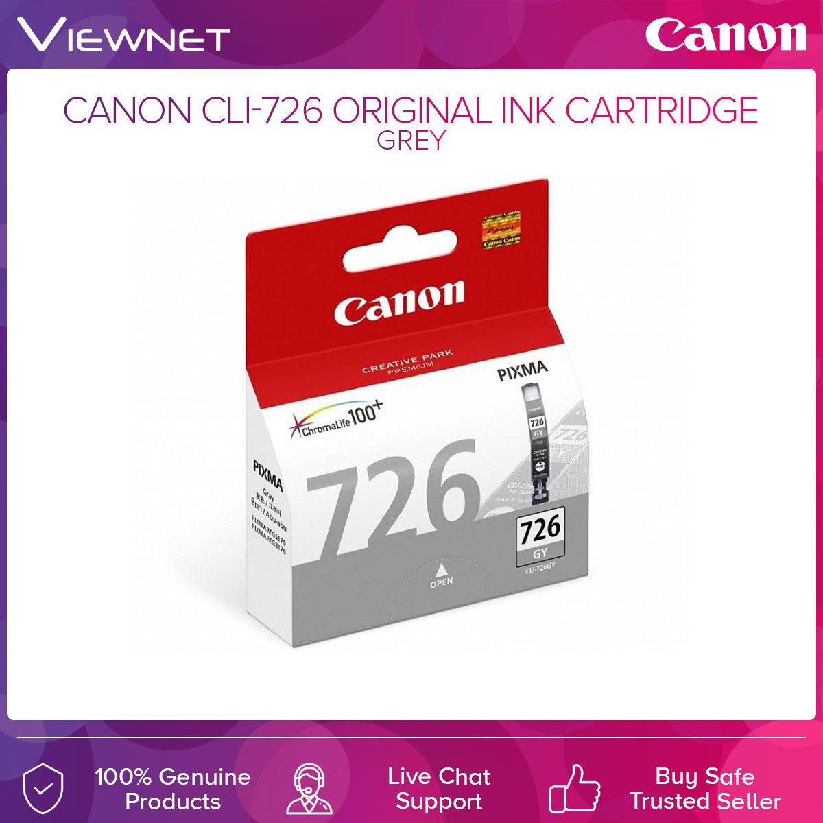 Canon PGI 725 / CLI 726 Original Ink Cartridge Black Cyan Magenta Yellow Grey