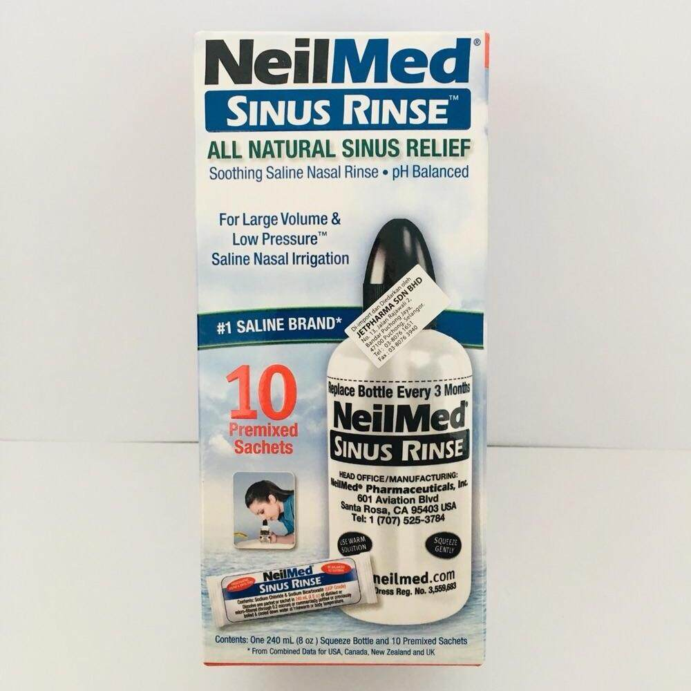 *New Packaging* Neilmed Sinus Rinse Starter Kit + 10 Premixed Sachets