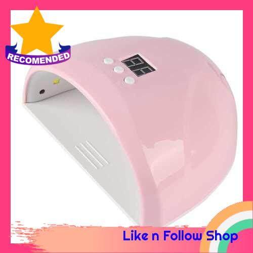 36W UV Nail Lamp Nail Dryer Mini Lamp for Nails Manicure UV Gel Timing Machine (Pink)