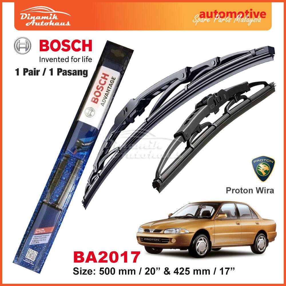 """Proton Wira Car Front Windshield Wiper Blade Size 20"""" / 17"""" - Bosch Advantage BA2017"""