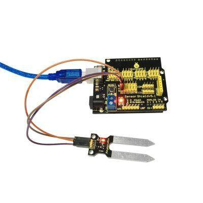 Keyestudio KS0049 Soil Moisture Sensor Humidity Detection Module for Arduino (BLACK)
