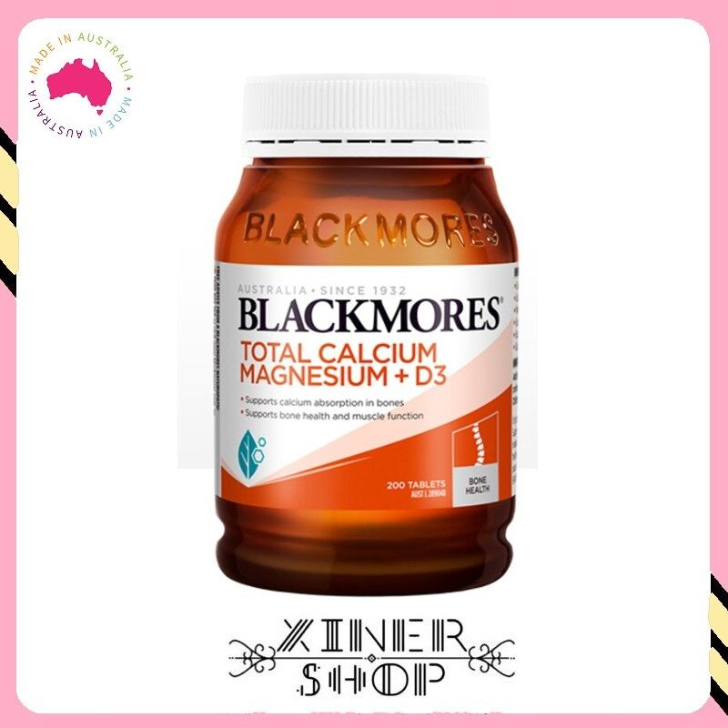 [Ready Stock] Blackmores Total Calcium & Magnesium + D3 ( 200 Tablets )( Made In Australia )