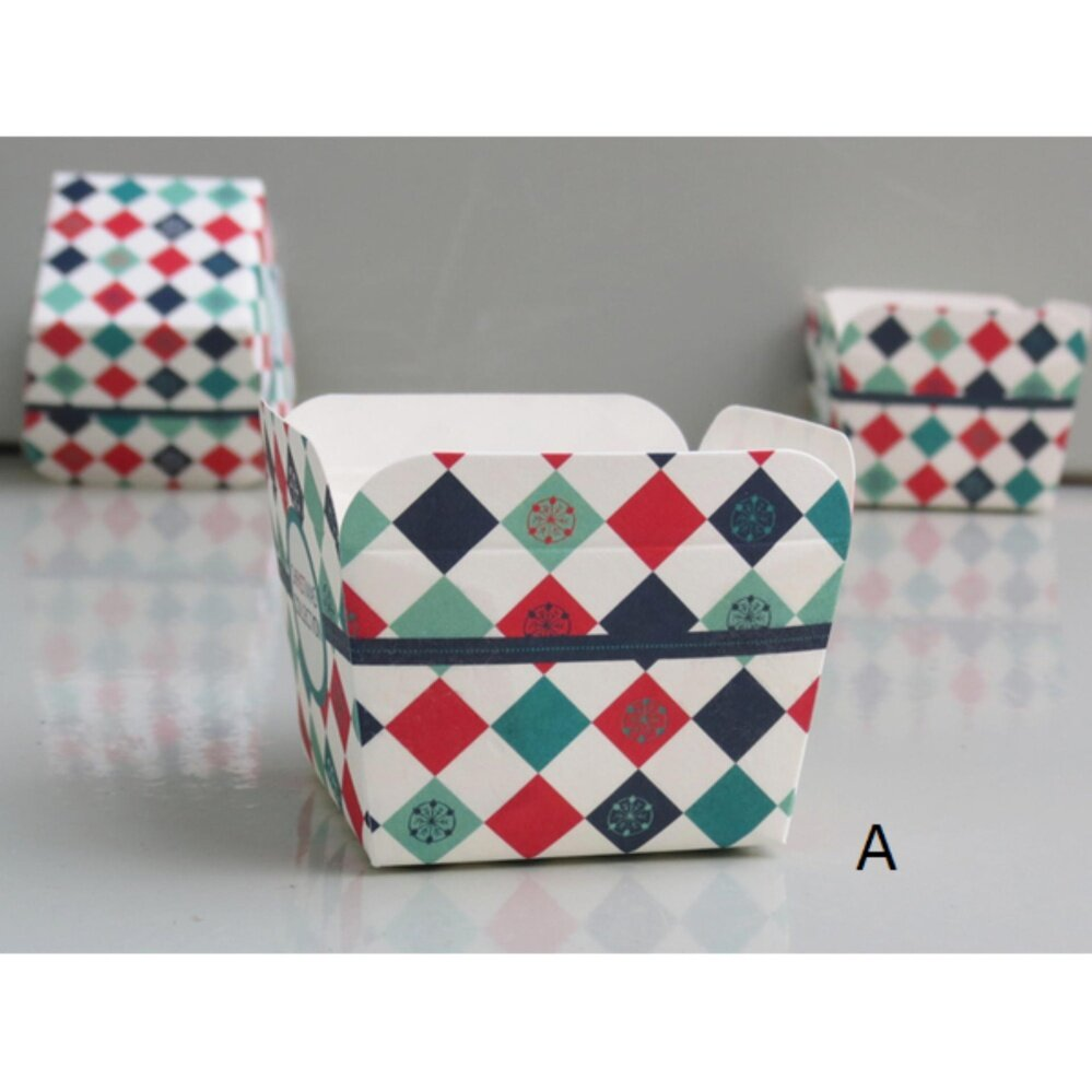 50Pcs Square Paper Cake Cup Liners  Muffin Cases Hoikado Cupcake