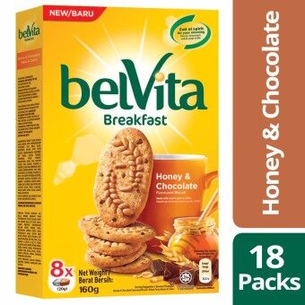 Harga Belvita Breakfast Biscuits, Honey & Chocolate, 18 Packs of 160g Each