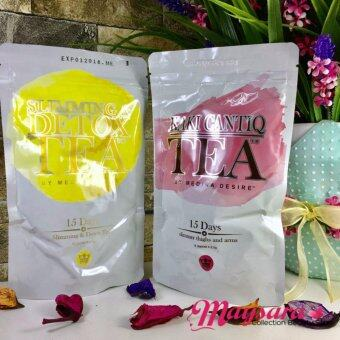 COMBO Set SLIMMING & DETOX Tea + KAKI CANTIQ Tea by MEDINADESIRE ~ New Packaging