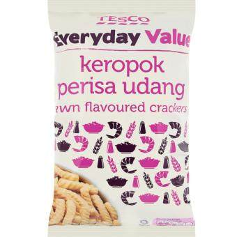 Harga TESCO EVERYDAY VALUE PRAWN FLAVOUR CRACKER (70G)