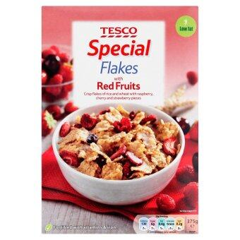 Harga Tesco Special Flakes with Red Fruits 375g