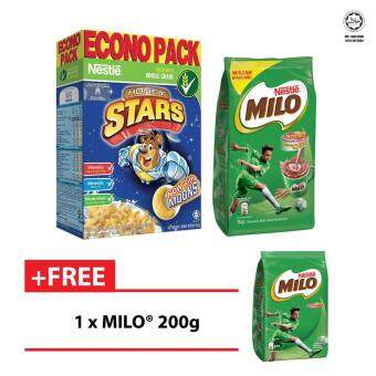 Harga NESTLE HONEY STAR Cereal Econopack 500g + MILO 1kg FREE MILO 200g