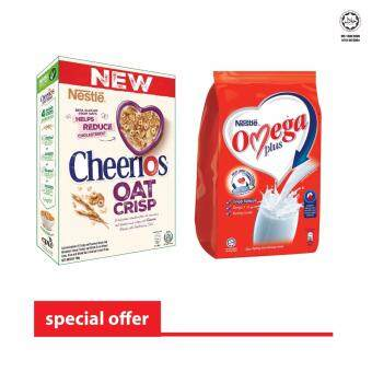 Harga NESTLE CHEERIOS Oats 190g + NESTLE OMEGA PLUS 600g (SPECIAL OFFER)