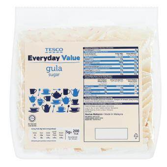 Harga TESCO EVERYDAY VALUE SUGAR 200SX5G(TUBE)