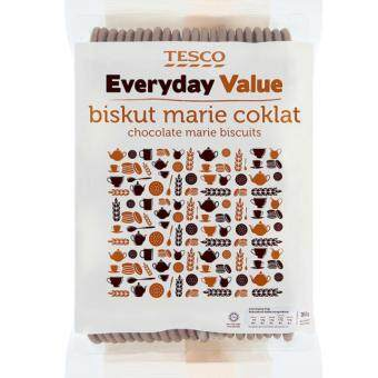 Harga TESCO EVERYDAY VALUE CHOCOLATE MARIE BISCUIT (350G)