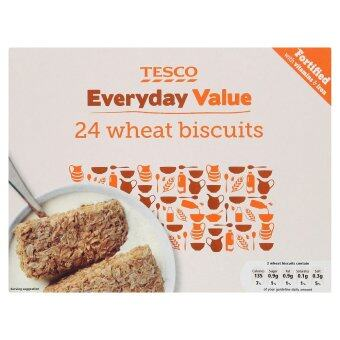Harga Tesco Everyday Value Wheat Biscuits 24pcs