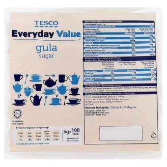 Harga TESCO EVERYDAY VALUE SUGAR 100SX5G(TUBE)