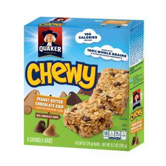 QUAKER CHEWY PEANUT BUTTER & CHOCOCHIP BAR 192G