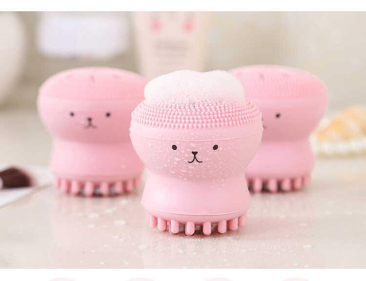 Beauty Face Skin Care Cleaning Tools Octopus Jellyfish Facial Cleansing Brush Facial Puff