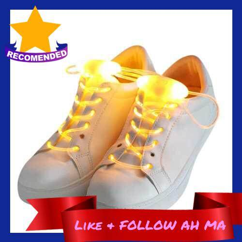 Best Selling LED Battery Powered Operated Light Shoelace (Yellow)
