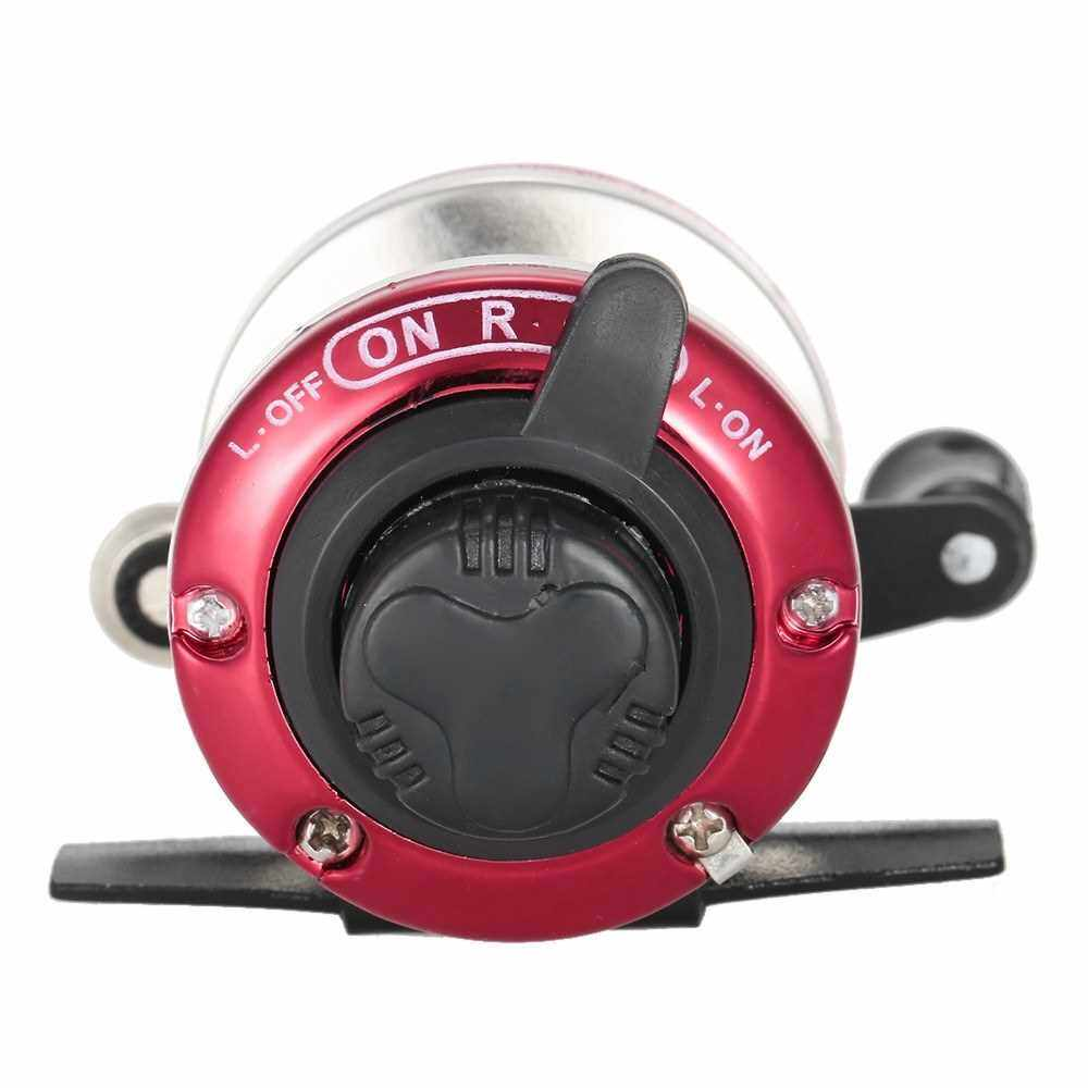 Best Selling Mini 3.6:1 Right Left Hand Interchangeable Bait Castiing Fishing Reel (Red)