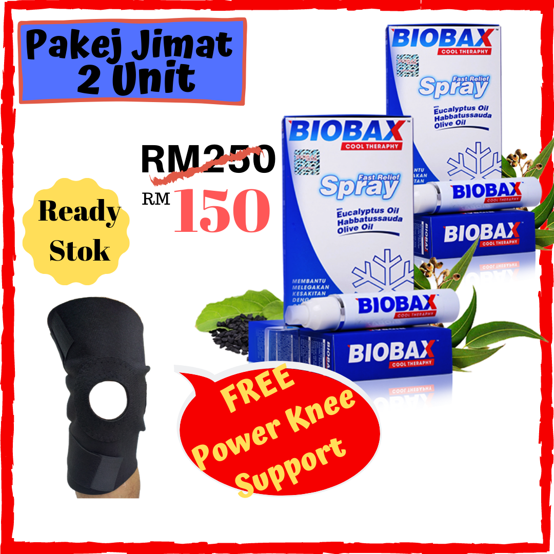 Biobax Spray Untuk Sakit Lutut Pinggang Lenguh Badan Amat Bagus Untuk Ibu Ayah