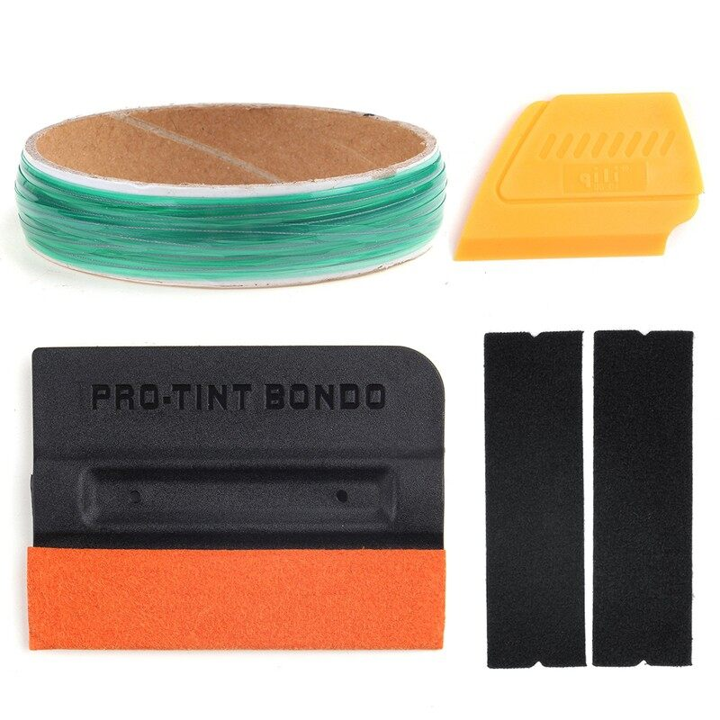 Engine Parts - Pro Car Color Changing Film Tool Membrane Squeegees Tape Finishing Line 10M - Car Replacement