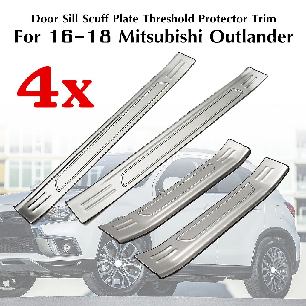 Automotive Tools & Equipment - 4 PIECE(s) Door Sill Scuff Plate Guards Protector For Mitsubishi Outlander 2016- - Car Replacement Parts