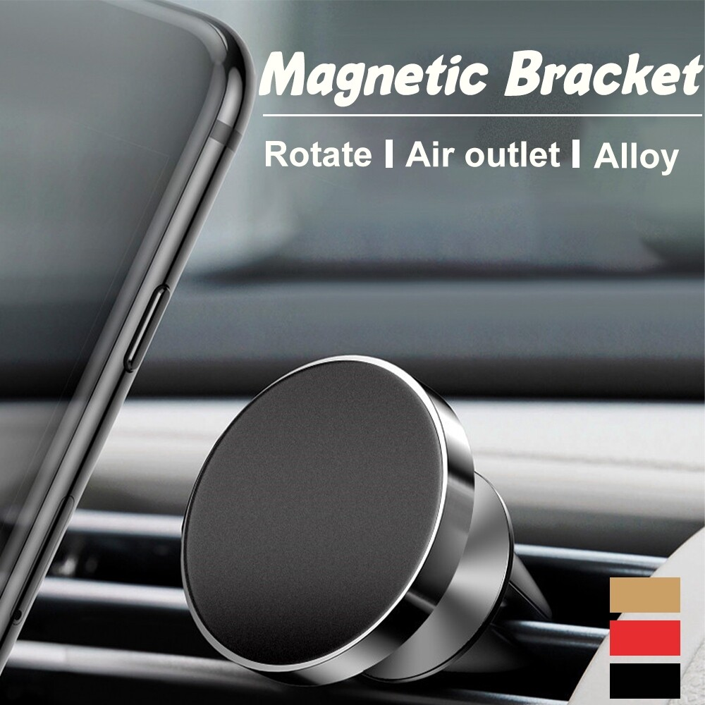 Phone Holder & Stand - 360 In Car Magnetic Phone Holder Fits Dashboard Universal Mount for all phones - RED / BLACK / GOLD