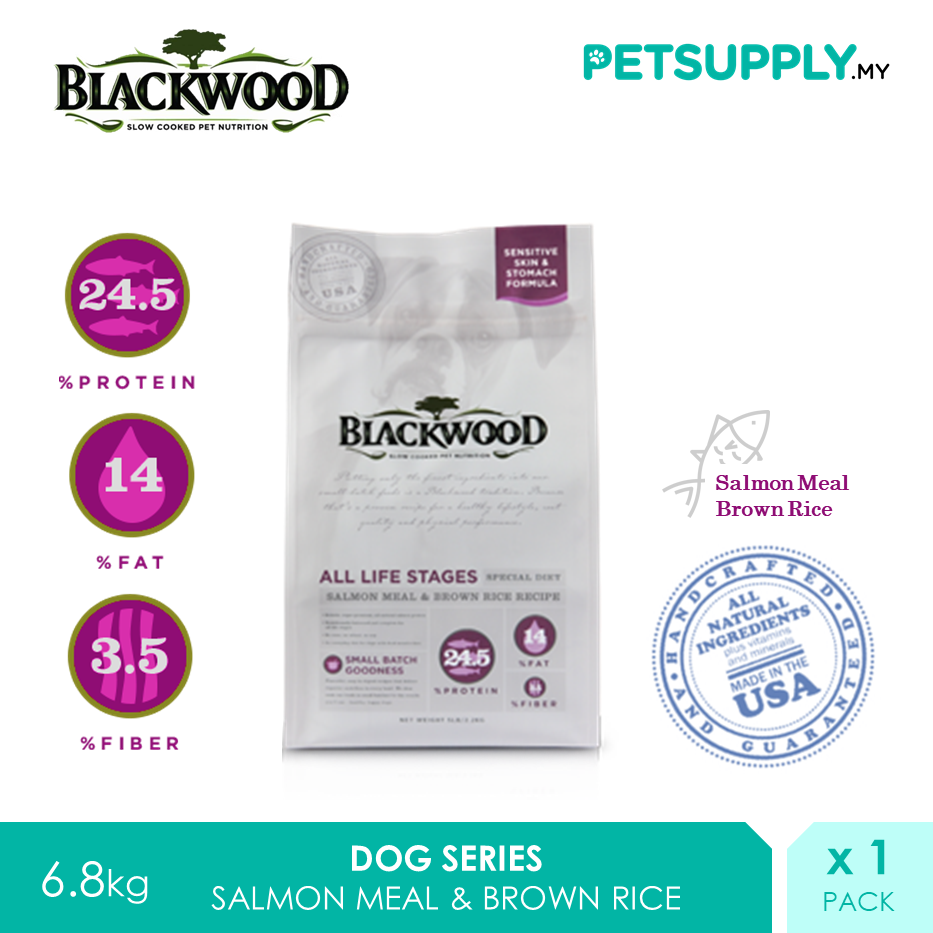 Blackwood All Life Stages Salmon Meal And Brown Rice Recipe Dry Dog Food 6.8kg [Treat Snack - Petsupply.my]