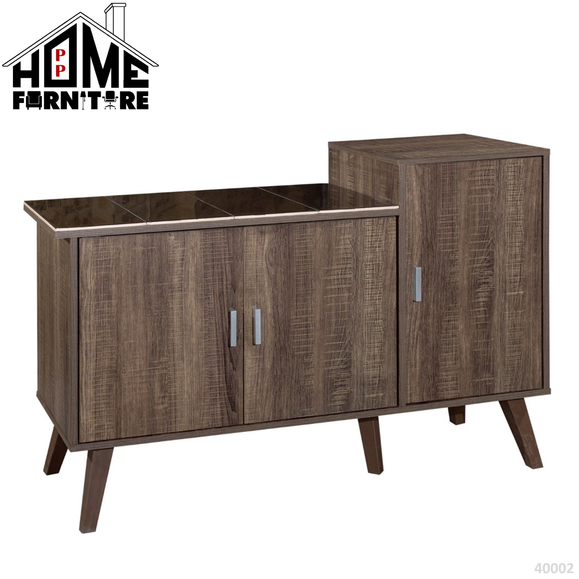 PP HOME Kitchen Cabinet with Mosaic Top /Gas Cabinet/ Almari dapur/ gas kabinet/ kabinet dapur 厨房煤气柜- Brown