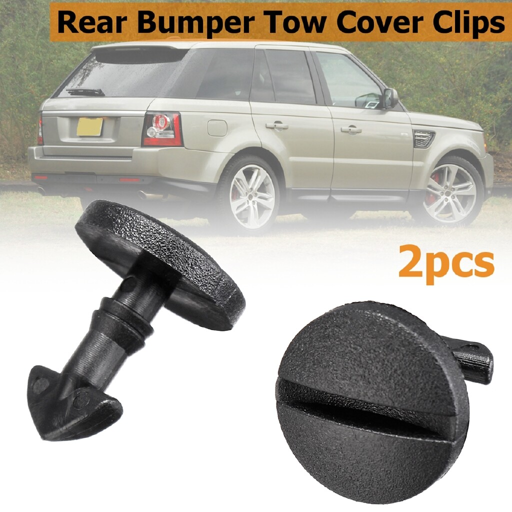 Automotive Tools & Equipment - 2x Rear Bumper Tow Cover Clip Towing Eye Trim DYR500010 For Land Rover Discovery - Car Replacement Parts