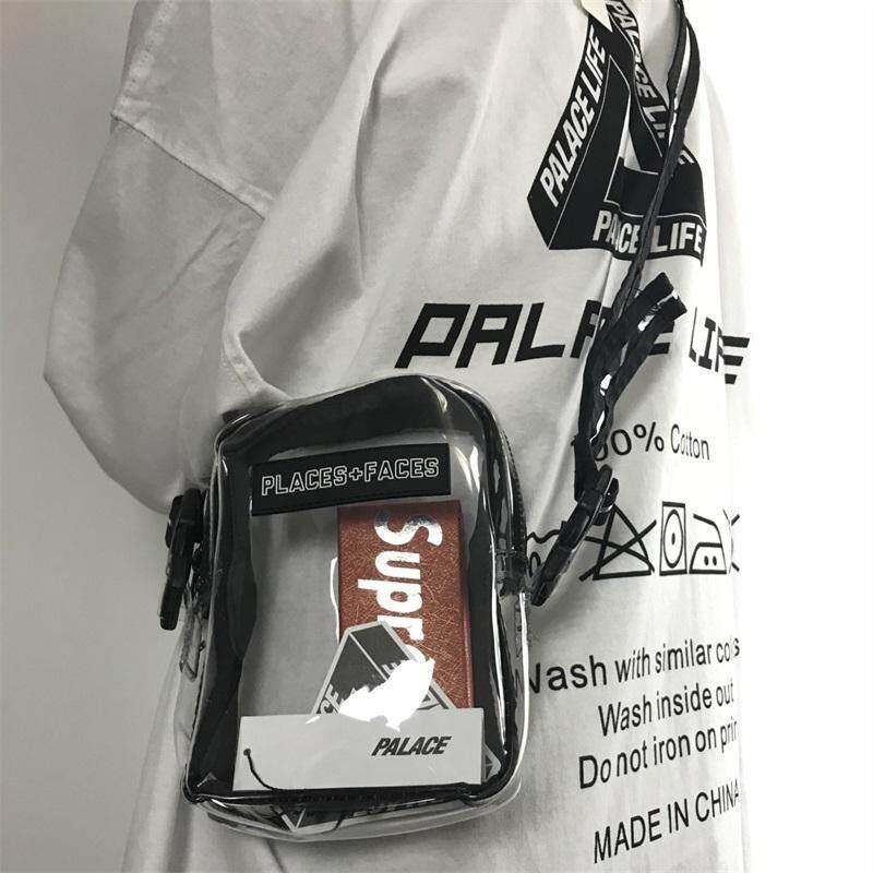 Places+Faces transparent bag PVC clear sling bag Mini messenger bag P+F