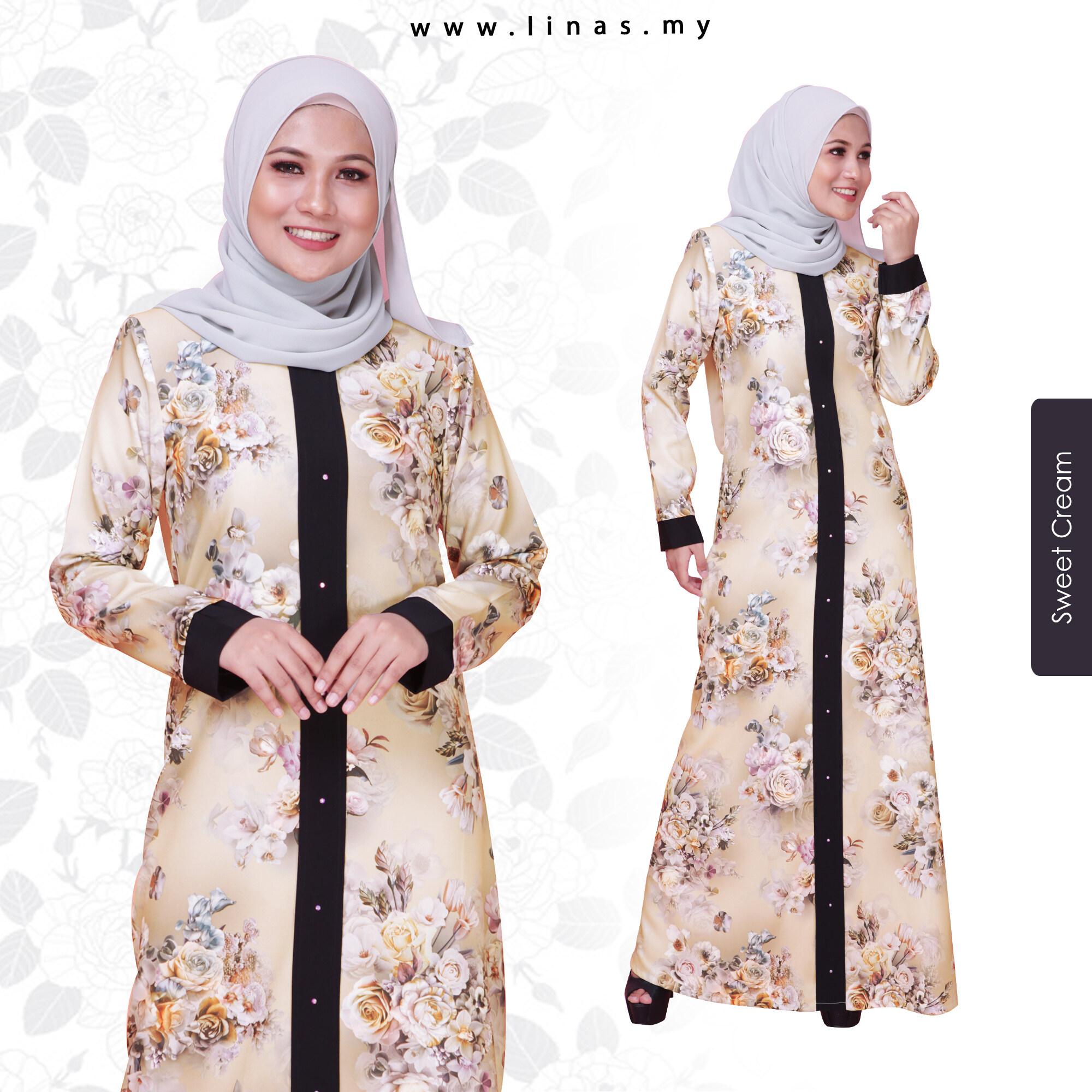 JUBAH MIQAILA EXCLUSIVE / LONG DRESS / FLORAL JUBAH ELEGANT LOOK