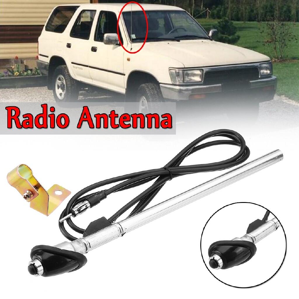 Car Radios - Black Guard Mount Car Radio Antenna Aerial Fit For Toyota Hilux 1989-1997 AP77 - Electronics