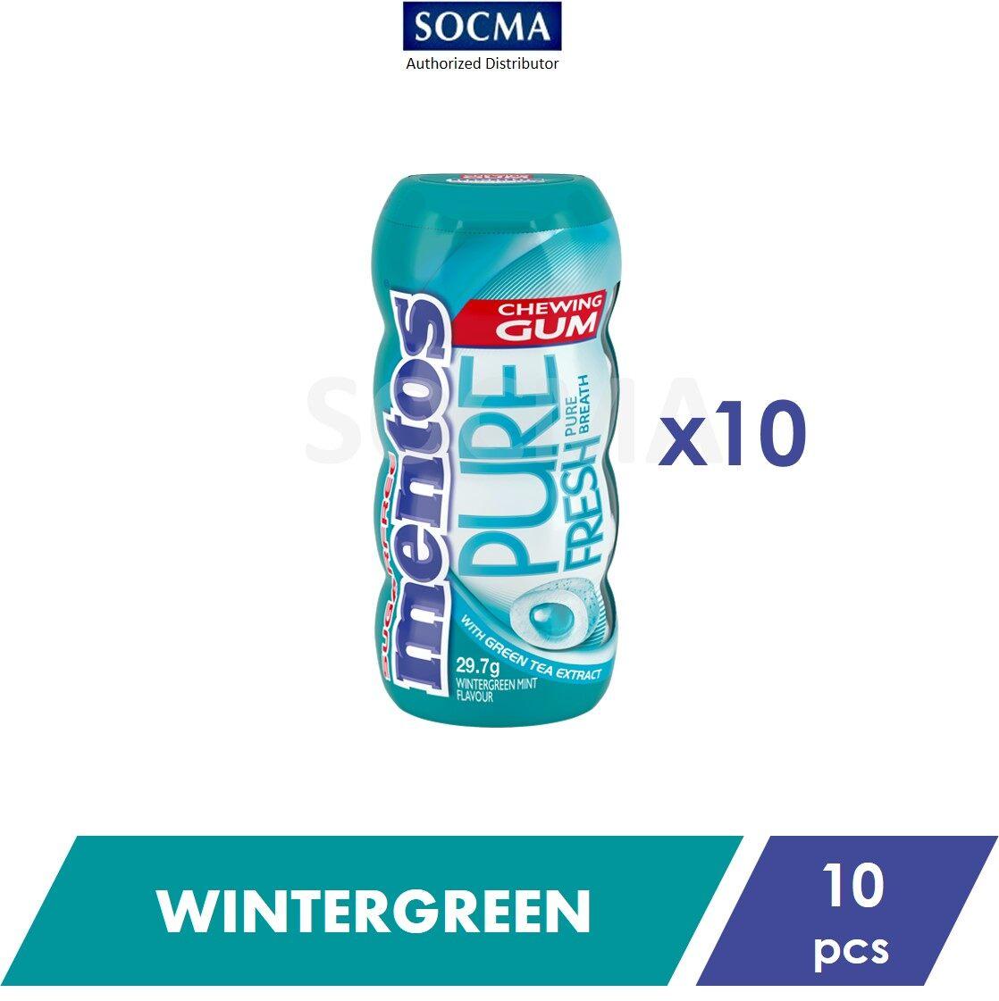 Mentos Pure Fresh Pocket Bottle Gum Wintergreen 29g [10]