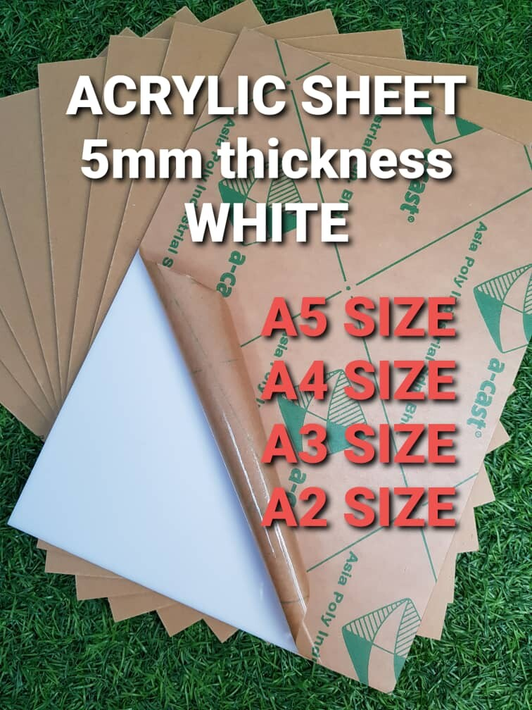 Acrylic sheet White 5mm thickness Grade A Casting