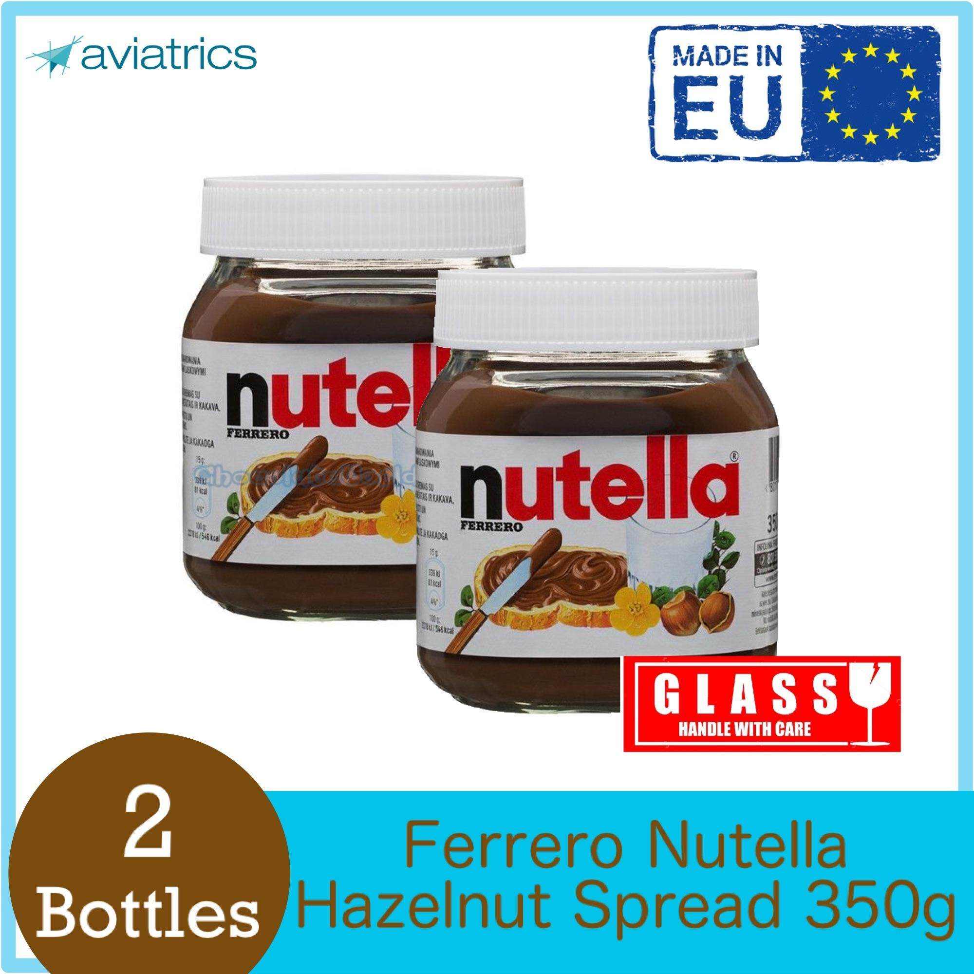 Nutella Ferrero Hazelnut Spread Glass 2 X 350g (Made In E.U....