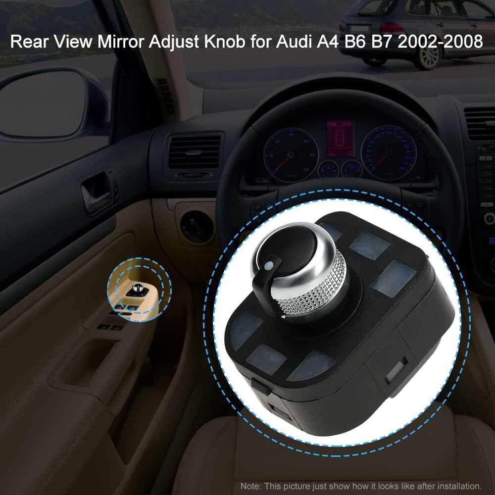Best Selling 6pcs OEM Car Headlight Control Electric Power Window Master Switch Rear View Mirror Adjust Knob Switch Control Kit for Audi A4 B6 B7 2002-2008