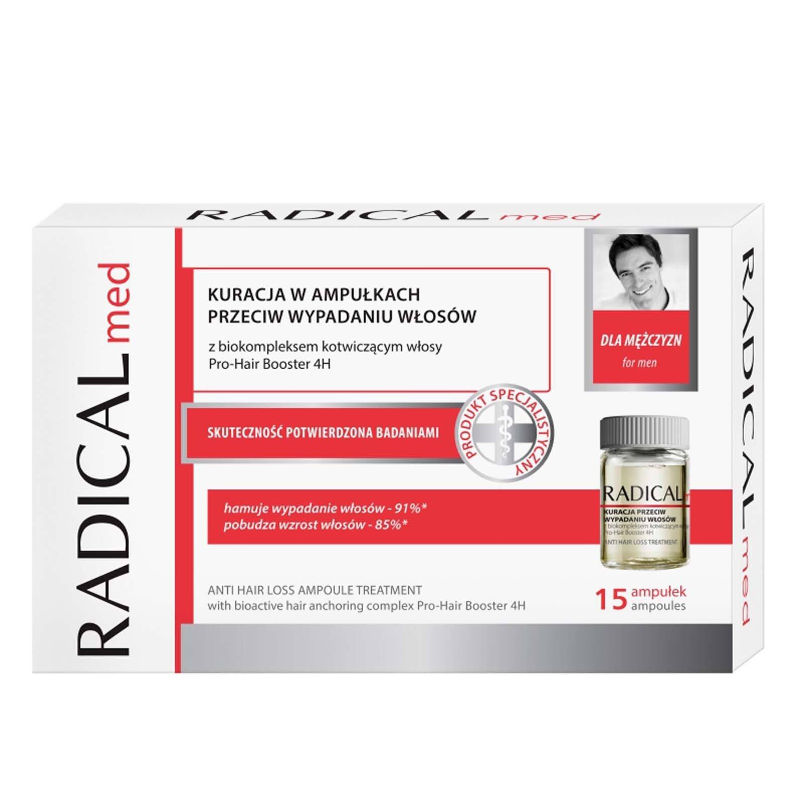 RADICAL MED Anti Hair Loss Ampoule Treatment For Men