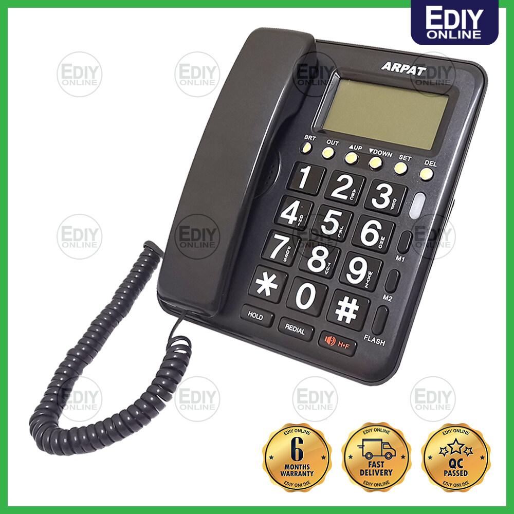 【NEW】 ARPAT KX-TSC7716CID BIG BUTTON ELDERLY FRIENDLY LANDLINE CALLER ID HOME TELEPHONE TELEFON PHONE 电话 [EXTRA BOX PACKING]