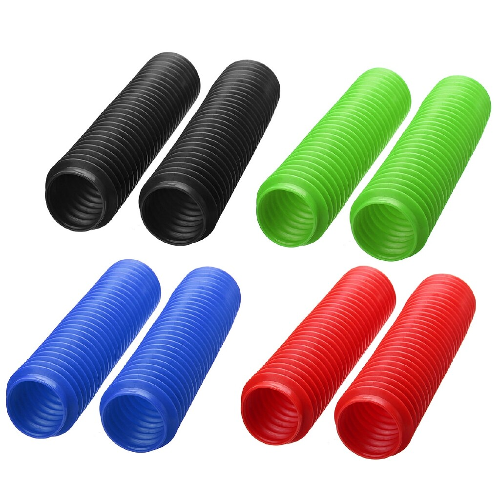 Moto Accessories - Motorcycle Rubber Front Absorber Dust Protection Cover For CQR X3 Off Road 32CM - BLACK / BLUE / GREEN / RED