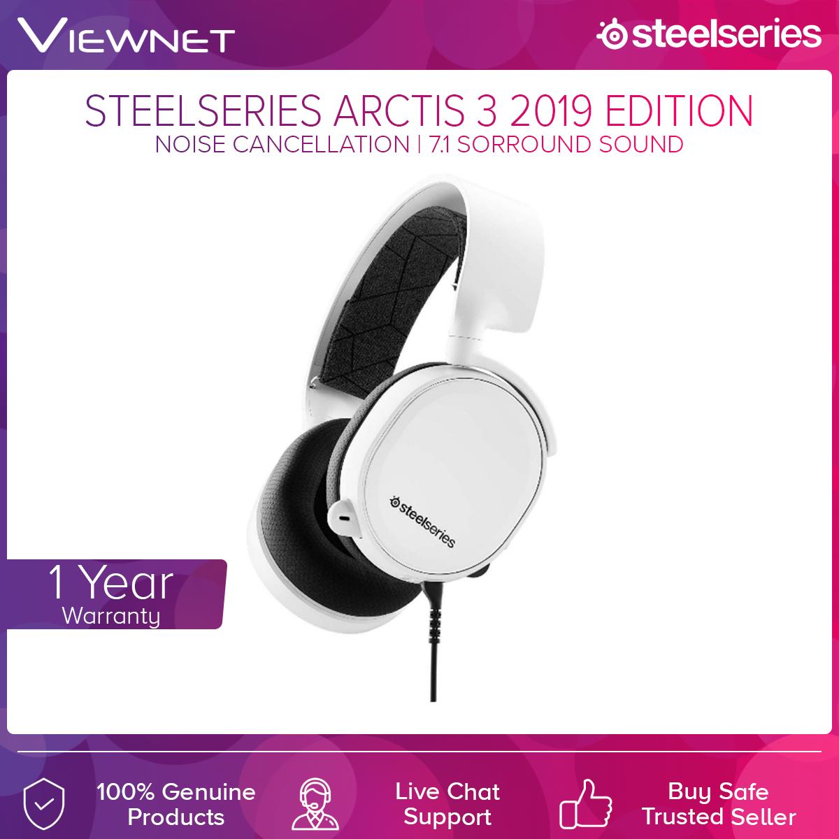 Steelseries Arctis 3 Black/White Headset ( 2019 Edition )