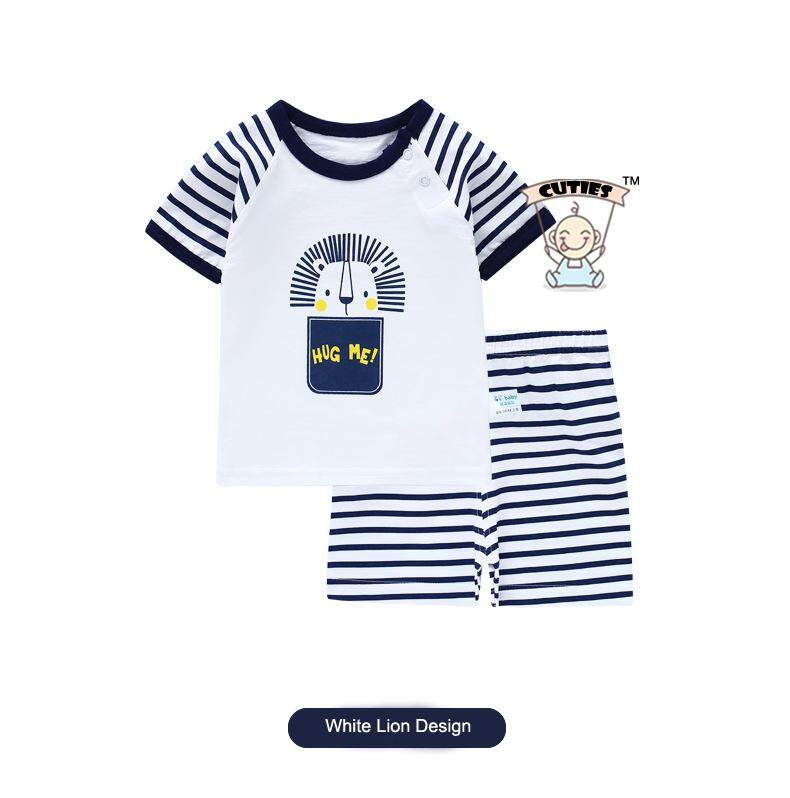 TheCutiesWorld Cute Lion Round Neck Baby Casual T-shirt + Pant