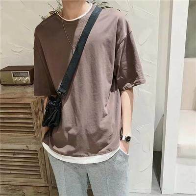 (PRE ORDER) MEN FAKE TWO PIECES CASUAL T-SHIRT