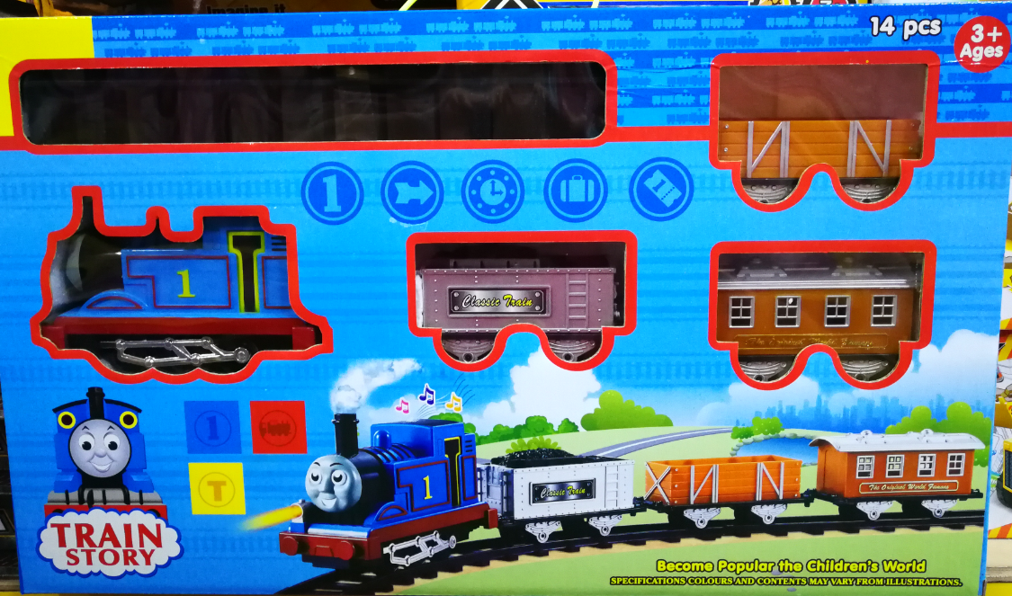 Kids Toy - Thomas Cartoon Story Train Track Toys Set For Kids