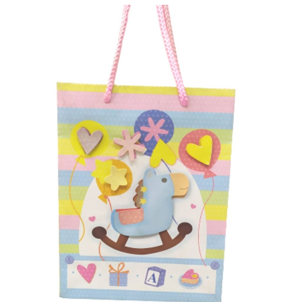 Party's Paper Bag (Blue, Pink)