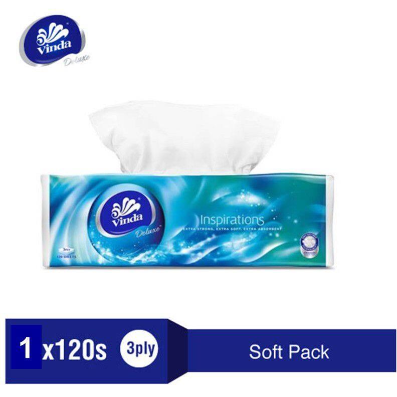 Vinda Deluxe Soft Pack Facial Tissue - 1 x 120's
